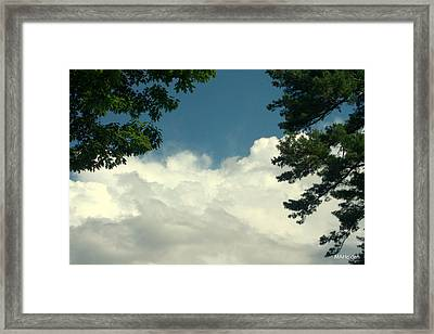 Clouds At Malletts Bay Framed Print by Mark Holden