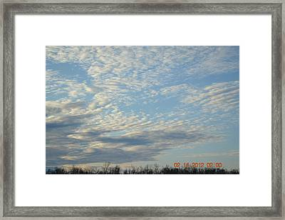 Clouds Before A Storm Framed Print by Heidi Frye
