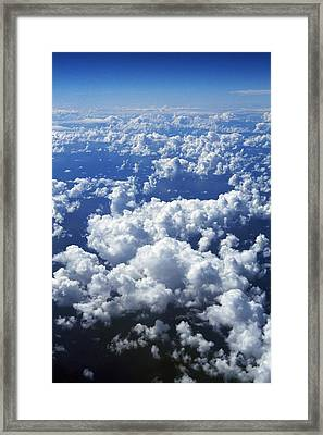 Clouds From Aerial View Framed Print by Natural Selection Craig Tuttle