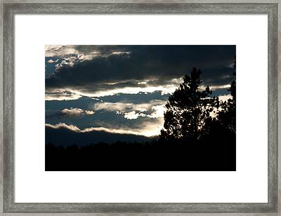 Clouds Giving Way To Sunset Framed Print by Jessica Lowell