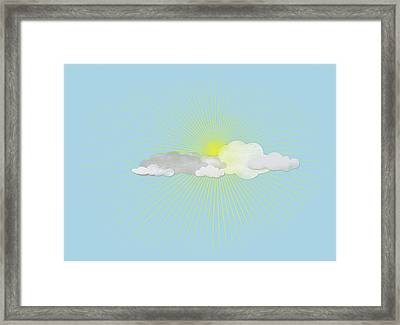 Clouds In Front Of The Sun Framed Print by Jutta Kuss