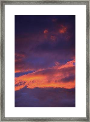 Clouds In Sky With Pink Glow Framed Print by Richard Wear