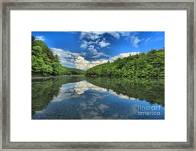 Clouds In The Lake Framed Print by Adam Jewell