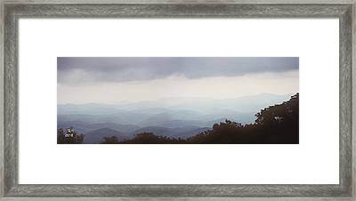 Clouds In The Mountains Framed Print