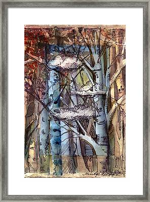 Clouds In The Trees Framed Print by Mindy Newman