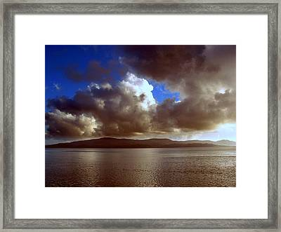 Framed Print featuring the photograph Clouds by Irina Hays