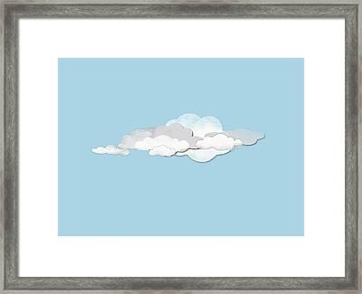 Clouds Framed Print by Jutta Kuss