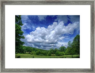 Clouds Framed Print by Matthew Green