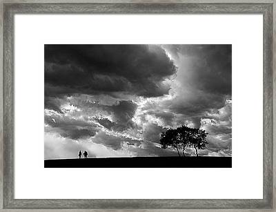 Framed Print featuring the photograph Clouds by Okan YILMAZ