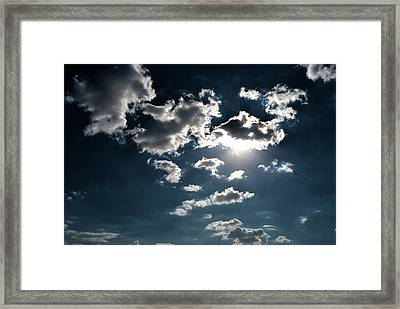 Clouds On A Sunny Day Framed Print by Sumit Mehndiratta