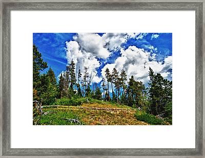 Clouds On My Hill Canada Framed Print by Rick Bragan