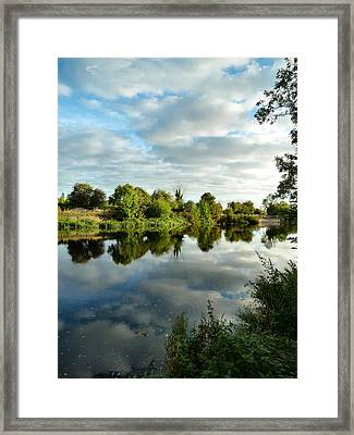 Clouds On The River Framed Print by Debra Collins