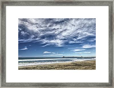 Clouds Over Imperial Beach Pier Framed Print