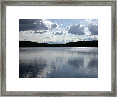 Clouds Over Lake Framed Print