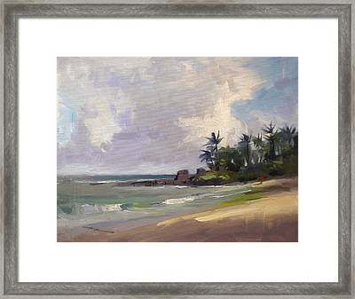 Clouds Over Laniekea Framed Print by Richard Robinson