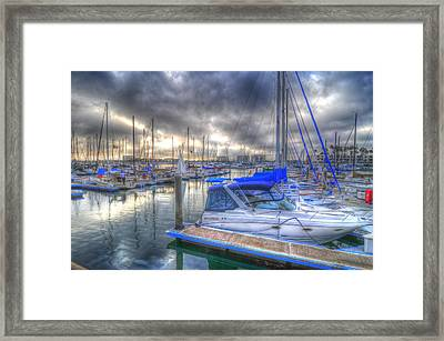 Clouds Over Marina Framed Print