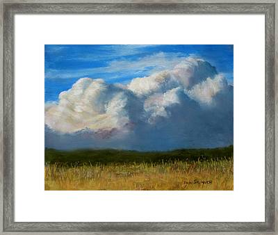 Clouds Over The Meadow Framed Print
