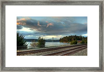 Clouds Over The Narrows Framed Print by Chris Anderson