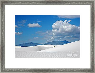 Clouds Over The White Sands Framed Print