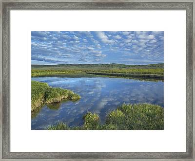 Clouds Reflected In The Green River Framed Print