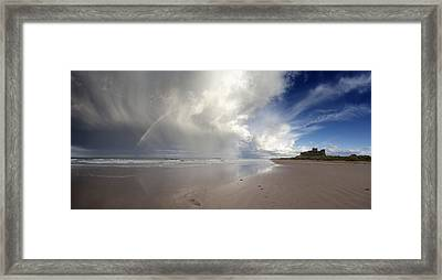 Clouds Reflected In The Shallow Water Framed Print by John Short