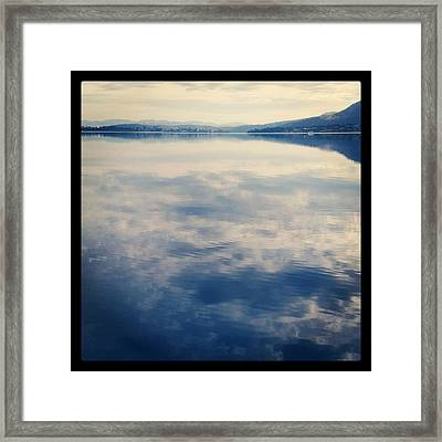 Clouds Reflected On River Framed Print