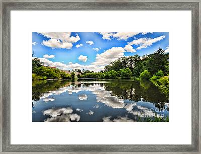 Clouds Reflection On Water Framed Print by Paul Ward
