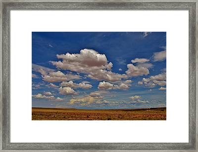 Clouds Framed Print by Sara Edens