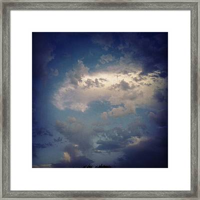 #clouds #sky #nature #andrography Framed Print by Kel Hill
