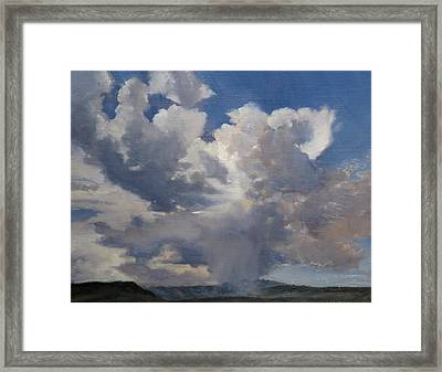 Cloudscape Framed Print by Victoria  Broyles