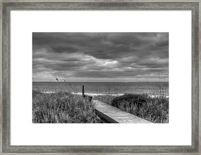 Cloudy Day In Paradise Framed Print by David Paul Murray