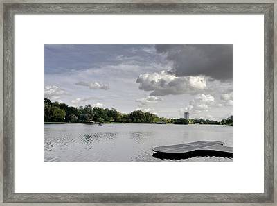 Framed Print featuring the photograph Cloudy Hyde Park by Maj Seda