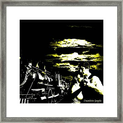 Cloudy Nights Framed Print by Creative Goggle