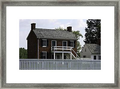 Clover Hill Tavern Kitchen Appomattox Virginia Framed Print by Teresa Mucha