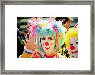Framed Print featuring the photograph Cloverleaf Clown by Alice Gipson