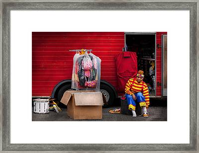 Clown - Wardrobe Change Framed Print by Mike Savad