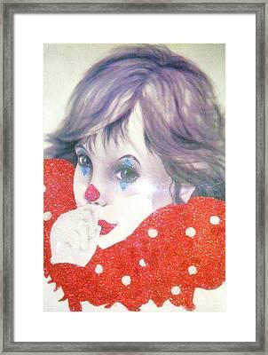Clown Baby Framed Print