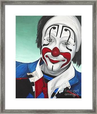 Clown - Billy Ballantine  Framed Print by Patty Vicknair