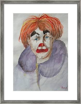 Clown School Framed Print by Betty Pimm