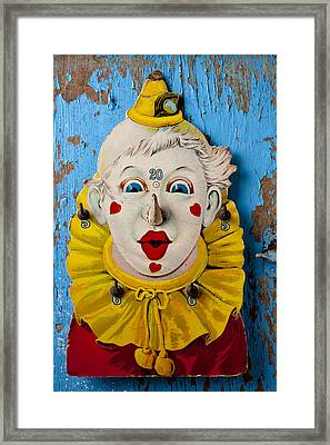 Clown Toy Game Framed Print by Garry Gay