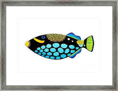 Clown Triggerfish  Framed Print by Opas Chotiphantawanon