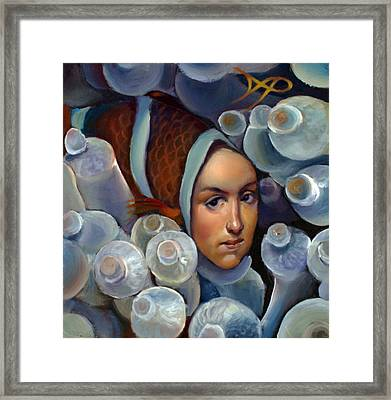 Clownfishing Around Framed Print by Patrick Anthony Pierson