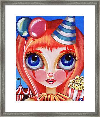 Clowning Around Framed Print