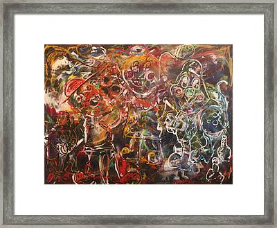 Clowning Around Framed Print by Shadrach Ensor