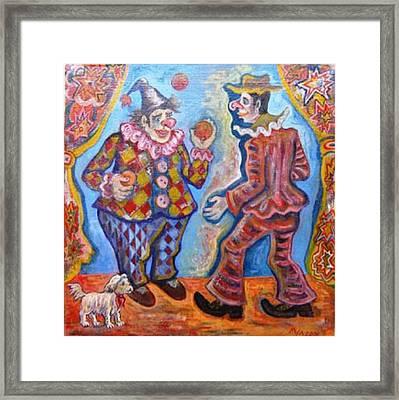 Clowns Framed Print by Milen Litchkov