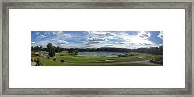 Club House Panorama Framed Print