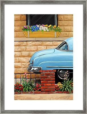 Clunker In The Garden Framed Print by David Kyte