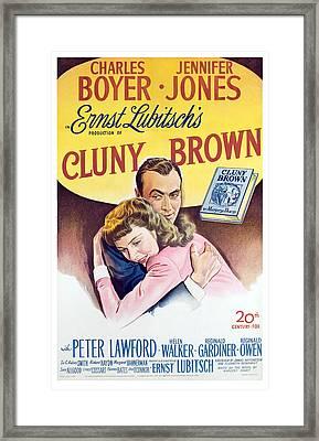 Cluny Brown, Charles Boyer, Jennifer Framed Print by Everett
