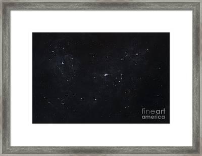 Cluster Of Stars In Outer Space Framed Print
