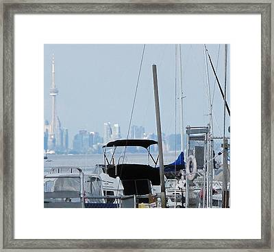 Cn Tower From Port Credit Framed Print